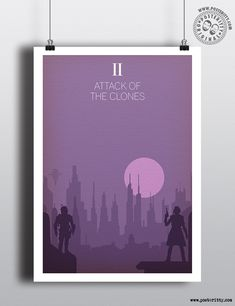 Star Wars - Attack of the Clones Minimal Poster by Posteritty #Posteritty #StarWars #MinimalStarWars #MinimalistMoviePosters #StarWarsPoster #MinimalFilmPosters