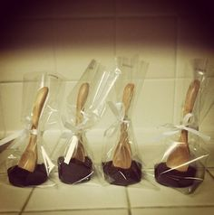 DIY Hot Chocolate on a Stick (or spoon). Simple gift or stocking stuffer for the holidays.