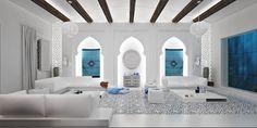 Living room | Mimar Interiors White & turquoise