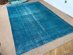 Best quality Turkis Turquoise vintage carpet ... by Halitasarim on Etsy