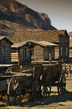 wagons...old frontier town, Wyoming. I have been here two times in my life it is a wonderful place outside of Cody