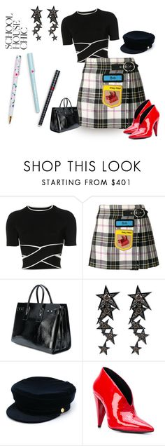 """Work Hard Play Hard:  Finals Season"" by sassyscribe ❤ liked on Polyvore featuring T By Alexander Wang, Miu Miu, Yves Saint Laurent, Luis Miguel Howard, Manokhi and Stella Luna"