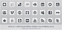 Huge set of 1,540 social networking icons, our standard 154 icons in 10 colors corresponding to each of in Focus. #social #media #icons #flat #UI