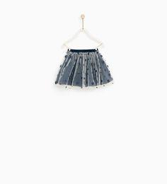 0fc0762baa88e Image 1 of TULLE SKIRT WITH STARS from Zara 幼児(女の子)のファッション