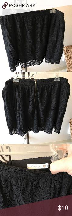 Soprano Ladies Skirt zipper back soprano ladies Skirt  Size xl 16 Black Soprano Skirts Midi