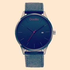 A simple black wristwatch for men. Simple watch. Minimalist watch