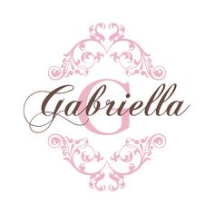 Nursery Name Decal - Shabby Chic Heart Border With Baby Name And Initial For Girl Nursery Or Girls Room - Vinyl Wall Art 22H x 22W GN045 on Etsy, $32.95