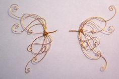 wire+mesh+for+make+fairy+wings | ... MOREZMORE 12 OOAK Wings Soft Thin Anodized Metal Craft Wire 26 Gauge