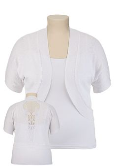 Crochet Back Cocoon Cardiwrap available at #Maurices...would go with just about anything!