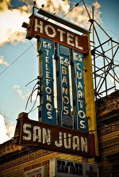 Vintage neon sign - Hotel San Juan