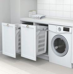 Best 20 Laundry Room Makeovers - Organization and Home Decor Laundry room decor Small laundry room organization Laundry closet ideas Laundry room storage Stackable washer dryer laundry room Small laundry room makeover A Budget Sink Load Clothes Laundry Cupboard, Laundry Room Organization, Laundry Hamper, Laundry Bin, Laundry Sorting, White Laundry Rooms, Laundry In Bathroom, Basement Laundry, Laundry Closet