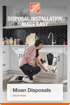 Moen Disposers - Disposers - The Home Depot Home Decor Kitchen, Home Kitchens, Kitchen Design, Home Renovation, Home Remodeling, Home Depot, Kitchen Organization, College Organization, Organization Hacks