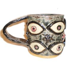 Eye Coffee Cup 16 With Ants by Aaron Nosheny/Aberrant Ceramics on Etsy, $30.00