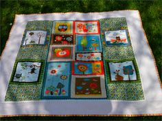 Owl Baby Quilt   my own Pattern 50x53""