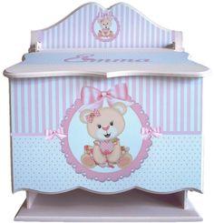 Ajuar Bebé Nacimiento Pañalera Fibrofácil Madera Baby Shower - $ 880,00 en Mercado Libre Baby Kit, Baby Shower, Toy Chest, Storage Chest, Decoupage, Toys, Furniture, Home Decor, Handmade Crafts