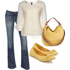 Yellow, created by styleofe on Polyvore