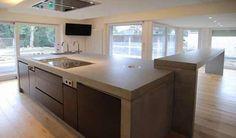 Küchen aus Beton Küchen In U Form, Concrete Countertops, Craftsman, Kitchen Island, Architecture, House, Material, Design, Home Decor