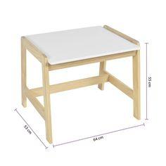 Mesa Infantil Castelo De Madeira Maciça E Mdf - Casatema Drafting Desk, Ideas Para, Stool, Montessori, Furniture, Home Decor, Children Study Table, Wood Creations, Wooden Castle