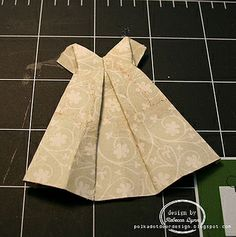 Origami Dress Tutorial by beccadh, via Flickr