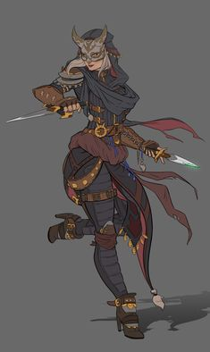 Rogue character concept, Nico Fari on ArtStation at https://www.artstation.com/artwork/RZwND
