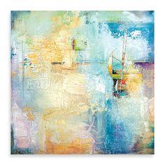 """Karen Hale """"Layered Blue I"""" Canvas Art - BedBathandBeyond.com"""