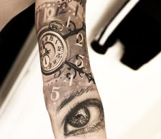 Realistic Time Tattoo by Niki Norberg | Tattoo No. 13697