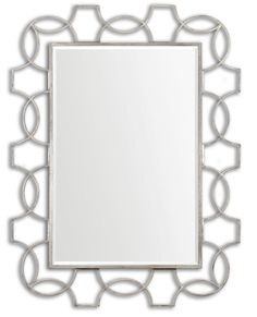 Oxidized Silver Rectangle Glass Mirror  Click here to purchase: http://www.houzz.com/photos/17723416/Oxidized-Silver-Rectangle-Glass-Mirror-transitional-mirrors