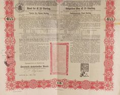 A CHINESE IMPERIAL GOVERNMENT GOLD LOAN BOND 1898, £25 & 5%,
