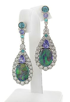AGTA award winning design for best use of color. diamonds and opals follow me @ ★☆Danielle ✶ Beasy☆★