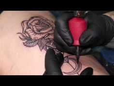 Flower Dotwork Tattoo done by Danny - YouTube