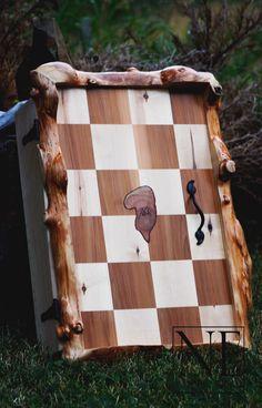 Burl Wall Cabinet- made with local B.C. spruce, birch & cedar.