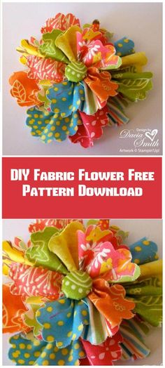 Diy and crafts Fabric Crafts – 50 Easy Fabric Flowers Tutorial – Make Your Own Fabric Flowers – Page 10 of 10 -… – PinyouYou don't know how to make fabric flower? Checkout these 50 DIY fabric flowers tutorial that will soon leave you as a prof Easy Fabric Flowers, Material Flowers, Fabric Flower Tutorial, Cloth Flowers, Diy Flowers, Paper Flowers, Fabric Flower Headbands, Felt Flowers, Flower Diy