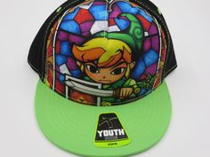 Nintendo Zelda Stain Glass Youth Childrens Size Bioworld Snapback Hat Cap  #Bioworld #BaseballCap  #Zelda