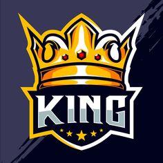 King crown esport logo design | Premium Vector #Freepik #vector #logo #crown #shield #team King Cobra, Easy Love Drawings, Logan, Lion Head Logo, Apple Logo Wallpaper Iphone, King Design, Game Logo Design, Esports Logo, Crown Logo