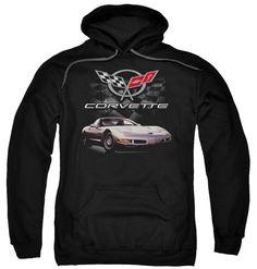 Classic Chevy Corvette Checkered Past Hoodie Black