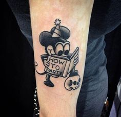 Old School Mickey by Mike Attack. #inked #inkedmag #tattoo #mickey #party #ink #small #tiny