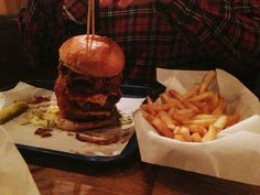Devastator Burger at Red Dog Saloon. Read our review at: http://scofflondon.com/restaurants/red-dog-saloon-review-n1/