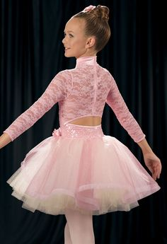 Weissman™ | Long-Sleeve Sequin Lace Ballet Dress