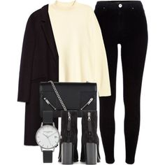 Untitled #6046 by laurenmboot on Polyvore featuring H&M, Zara, River Island, rag & bone, Yves Saint Laurent and Olivia Burton