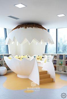 【ACE·作品】凯星幼儿园_其他空间_室内设计联盟 Home Room Design, Kids Room Design, Home Interior Design, Living Room Designs, Deco Design, Cafe Design, Booth Design, Kindergarten Interior, Kindergarten Design
