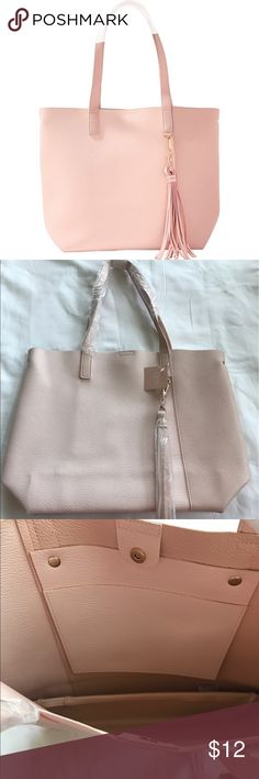 """NWT Ulta Blush Tote NWT Ulta's Convertible Tote can transform from your classic tote into a bucket tote bag for double styling options.  Approximately 16.75"""" L x 5.75"""" W x 13.5"""" H. Blush color. ❌no trades ✔️Poshmark only Ulta Bags Totes"""