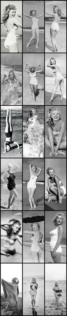 Marilyn Monroe: Iconic image of the Hollywood actress / sex symbol at the beach …. Marylin Monroe, Marilyn Monroe Photos, Hollywood Glamour, Classic Hollywood, Old Hollywood, Pin Up, Actrices Hollywood, Jane Fonda, Norma Jeane