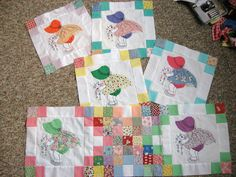Free+Sunbonnet+Sue+Quilt+Pattern | These are some of mine. I started this quilt when my daughter was 4 ...