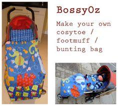 Tutorial - cosytoe, footmuff, bunting bag, pushchair bag  - Fusssack für den Buggy / Kinderwagen