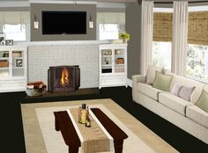 Simple Living Rooms With Fireplace