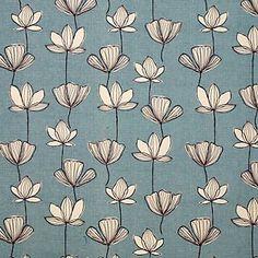 John Lewis Gingko Fabric, Mineral