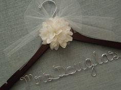 Personalized Wedding Dress Hanger. Mrs. Didonna!