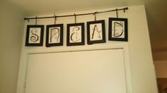 Framed hand painted letters for some family name art
