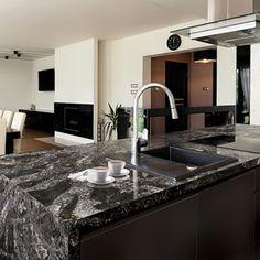 Cambria Quartz Surfaces Are Making Waves. Just Like Natural Granite Kitchen Benchtops, Kitchen Countertops, Cambria Quartz Countertops, Granite, Design Palette, New Kitchen Designs, Stone Kitchen, Countertop Materials, Home Kitchens