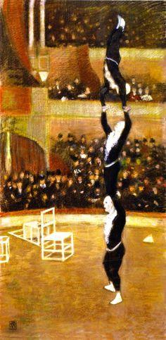 Théo van Rysselberghe  Acrobats 1888